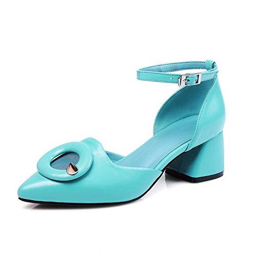 Inconnu Femme Compensées Bleu Sandales MJS03499 1TO9 rqwr6z
