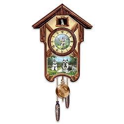 The Bradford Exchange Linda Picken Sweet Schnauzers Cuckoo Clock