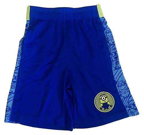 Bundled Brands Boys Youth Printed Performance Basketball Athletic Shorts (Large 10/12, Blue - Minions)]()