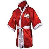 TITLE Boxing Full Length Stock Satin Robe, Red/White, Medium