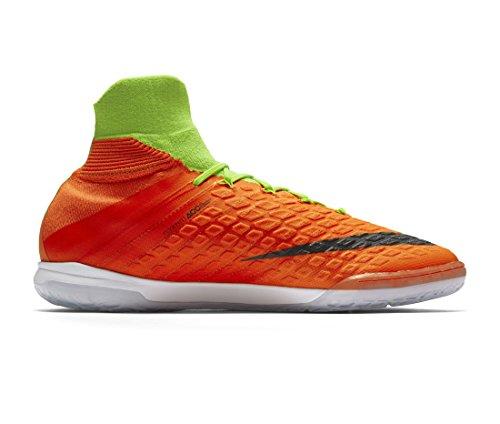 Nike Herren HyperVenomX Proximo II DF IC Hallenfußballschuhe (Electric Green, Hyper Orange)
