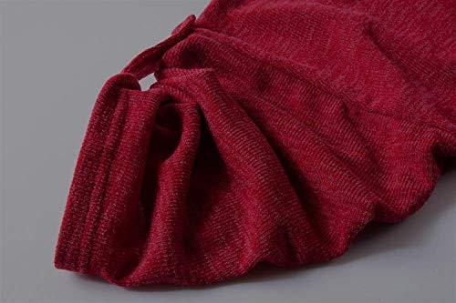 Eleganti Maniche Camicetta Lunghe Rot Rotondo Donna Pullover Stampato A Collo Felpe Bluse Maglioni Autunno Maglieria Camicia Abbigliamento Casual Huixin Primaverile Relaxed Eq0g8w55
