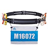 YAHILL Race Number Belt Running Belt with 4 Gal Lock Bib Hold Phone Belt for Running Marathon Sports Cycling