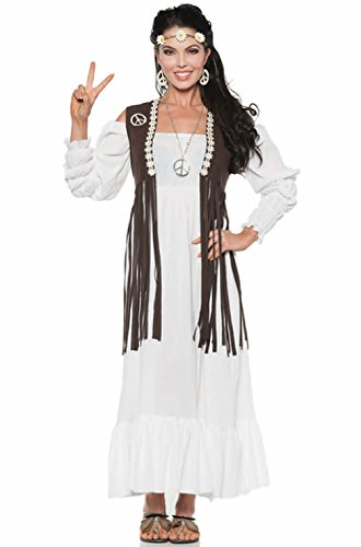 Hippe Peace Love Earth 1970's Women Adult (Adult Peace And Love Hippie Costumes)