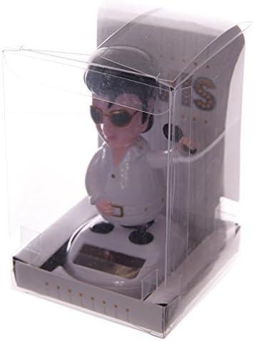 Puckator FF45 - Figura Decorativa de Elvis Preysle (6 x 5 x 10 cm, Panel Solar)