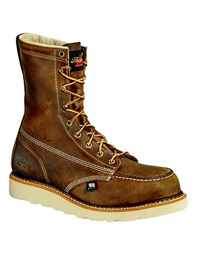 Thorogood 814-4178 Men's American Heritage 8'' Moc Toe, MAXwear Wedge Non-Safety Toe, Trail Crazyhorse - 9 D US by Thorogood