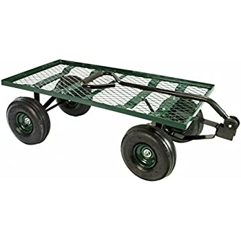 """Erie Tools Steel Flatbed Garden Cart 38""""x 20"""" Yard Wagon Heavy Duty and great for Landscaping with 550 lbs Max Hauling Capacity"""