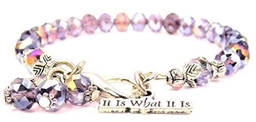Lavender Purple Crystal It Is What It Is Bracelet