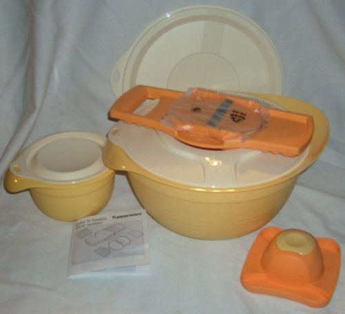 Tupperware 'Bake 2 Basic' Slicer System With Mixing Bowls New