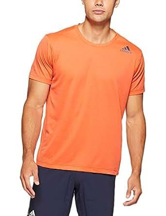 adidas Men's Freelift Climalite T-Shirt, Raw Amber(Red), L(Large)