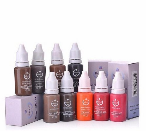 10 Colors Tattoo Makeup Permanent Tattoo Ink Set 15ml one Bottle Pigment for Eyebrow Embroidery Tattoo Makeup Pigment SogYupk