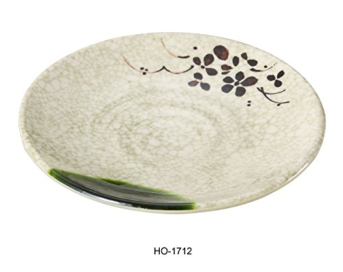 Yanco Honda Collection 12'' Japanese Style Melamine Round Plate BOX of 24 by Yanco