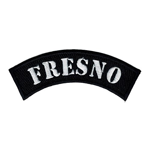 Fresno City Rocker/biker 4 Inch Width Diy Embroidered Iron on / Sew on Patch - Stores Fresno Clothing