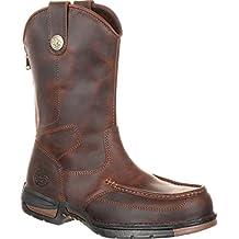 Georgia Boot Work Mens Athens Moc Toe Rubber Dark Brown GB00226