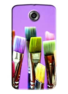 Omnam 5 Brush Design With Different Colors On Purple Back Ground for Goole Nexus 6