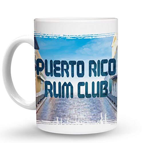 Puerto Rico Rum - Makoroni - PUERTO RICO RUM CLUB Puerto Rican - Puerto Rico - 11 Oz. Unique COFFEE MUG, Coffee Cup