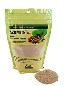 2 Lbs of Azomite - OMRI Organic Trace Mineral Soil Additive Fertilizer - Handy Pantry Brand - 67 Trace Minerals: Selenium, Vanadium, Chromium