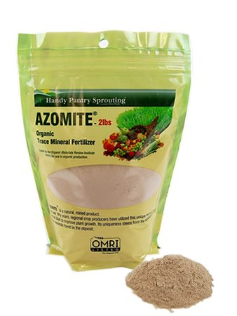 2 Lbs of Azomite - OMRI Organic Trace Mineral Soil Additive Fertilizer - Handy Pantry Brand - 67 Trace Minerals: Selenium, Vanadium, Chromium (Minerals Plant)