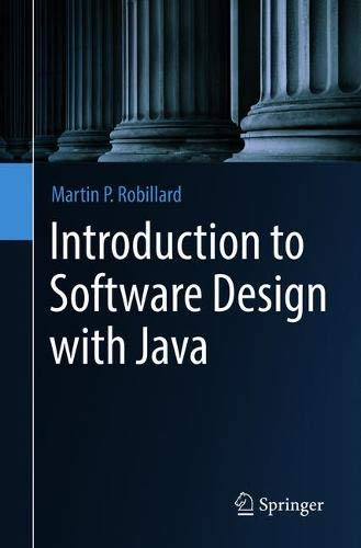 Introduction to Software Design with Java
