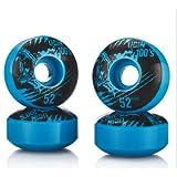 Skateboard Wheels,Asixx 52mm x 30mm Outdoor Durable PU Cruiser Longboard Wheels Compact Delicate Design,Hardness SHR-100A, 75% SpringBack