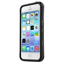 ITSKINS Venum Urban Series Bumper Case Cover For Apple iPhone 5C Includes Self Adhering Screen Protector (Black)