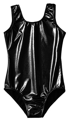 4a6c97b0768 Speerise Girls Kids Shiny Metallic Dance Gymnastics Tank Leotard ...