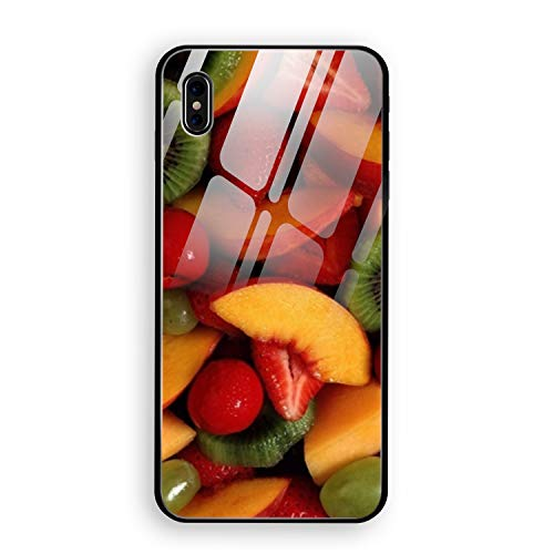 - Fruit Salad Photography iPhone X Case, Thin Tempered Glass Back Cover and Soft Silicone Rubber Bumper Frame Support Wireless Charging Compatible for iPhone X