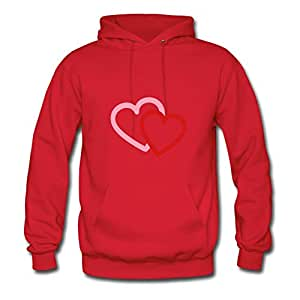 Women Love Heart Hearts Valentine Personalized Lightweight Informal Red Sweatshirtsby Erinwood
