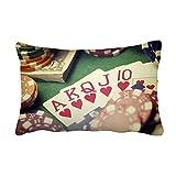 Hearts Flush Poker Gambling Photo Throw Lumbar Pillow Insert Cushion Cover Home Sofa Decor Gift