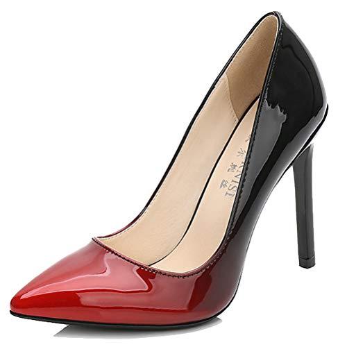36 Compensées Rouge 5 HiTime Sandales Femme Red F6wxXqH