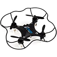 Duddy Black Mini Quadcopter Drone + FREE Wall Charger - Beginner Flying RC Helicopter Drone for Kids and Adults - Small, Rugged, Easy-to-Use 6-Axis Gyro Advanced Stunt Controller LED Light System