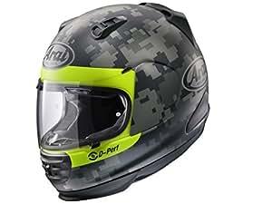 Nuevo casco de moto la MIMetalicIC ARAI rebelle, color negro y gris, con pistola