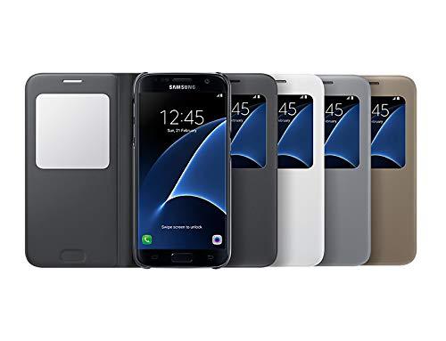 Samsung S View Cover - Funda Oficial Galaxy S7, Color Dorado- Versión española: Amazon.es: Electrónica