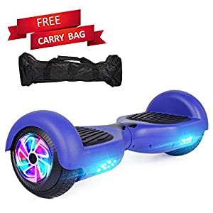 Sea Eagle Hoverboard Self Balancing Scooter Hover Board for Kids Adults with UL2272 Certified,Wheels LED Lights and Free Portable Carrying Bag (Blue)