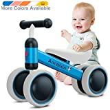 Ancaixin Baby Balance Bikes 10-24 Month Children Walker | Toys for 1 Year Old Boys Girls | No Pedal Infant 4 Wheels Toddler Bicycle | Best First Birthday New Year Holiday