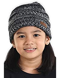 Kids Cable Knit Beanie for Girls & Boys - Baby & Toddler Winter Hats for Children Ages 2 & Up