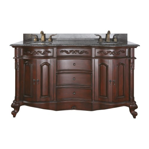 (Avanity Provence 60 in. Vanity Only in Antique Cherry finish)
