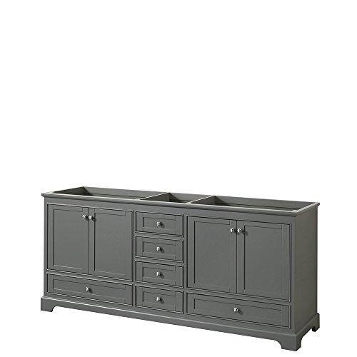 CS202080DKGCXSXXMXX Deborah Double Vanity Cabinet, No Countertop, No Sinks, and No Mirrors, 80