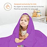 ULTIFIT Weighted Blanket for Kids 5 lbs, 36''x48'', 100% Cotton Kids Weighted Blanket with Glass Beads, Small Soft Toddler Weighted Blanket, Machine Washable, Purple