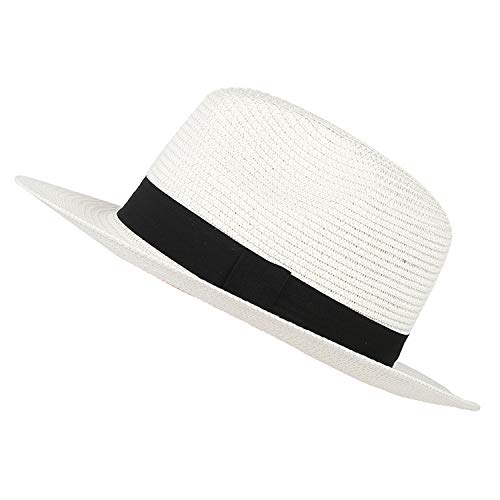 Fedora Hats for Men and Women Fashion hot Style Sun Hats The British Leisure Cap Summer caps - Fedora Hat Pinstriped White