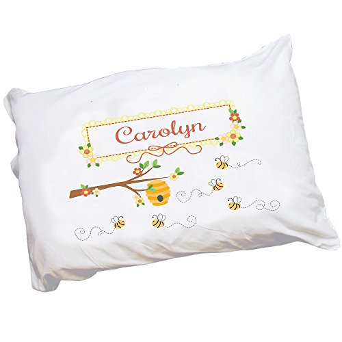 Personalized Childrens Pillowcase with Honey Bees design by MyBambino