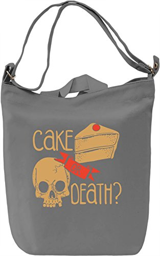 Cake Or Death? Borsa Giornaliera Canvas Canvas Day Bag| 100% Premium Cotton Canvas| DTG Printing|