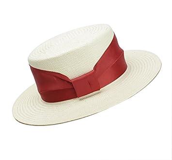 Meaeo Sunscreen Flat Top Hat Sombrero De Paja Europeos Y Americanos La  Sombrilla Blanca Simple Protección Solar Sombrero En La Playa. dab0666d439
