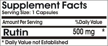 Rutin 500mg ~ 100 Capsules No Additives ~ Naturetition Supplements