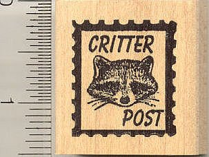 Critter Post Rubber Stamp