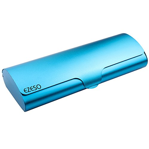 Aluminum Eyeglasses Case,EZESO Hard Shell Matte Elegant Slim Light Metal Frosted Spectacles For Small And Medium - Slim Case Spectacle