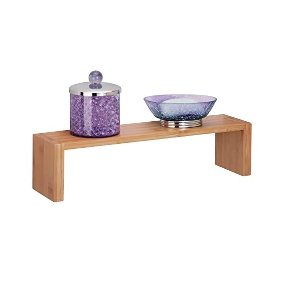 Honey-Can-Do SHF-04372 Wall Ledge Shelf, Bamboo, 15.75L x 3.94H,Bamboo - Reversible mounting allows unit to hang with ledge facing up or down Made of solid Bamboo construction Adds decorative and functional touch to your wall - wall-shelves, living-room-furniture, living-room - 41aGKnVl1fL. SS570  -