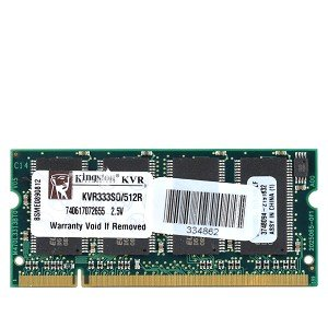 Kingston ValueRAM KVR333SO/512R 512MB DDR RAM PC-2700 200-Pin Laptop SODIMM Major/3rd