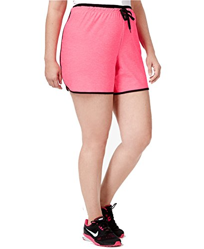 Ideology Plus Size Heathered Performance Shorts (2X, Molten Pink)]()