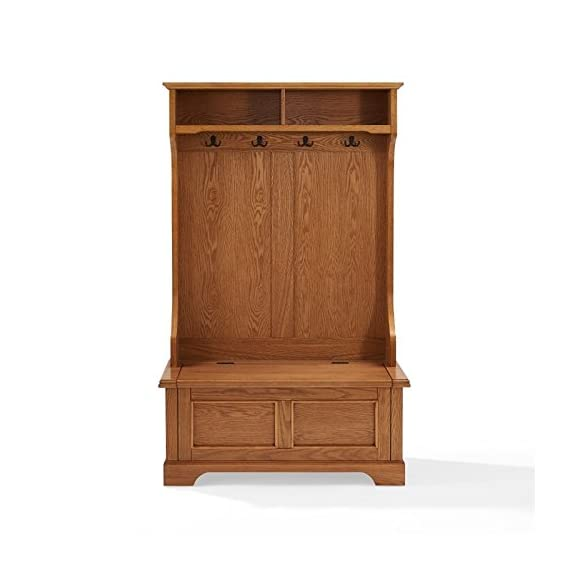 Pemberly Row Hall Tree in Oak - Finish: Oak Materials: Hardwood and Veneer Solid Hardwood & Wood Veneer Construction - hall-trees, entryway-furniture-decor, entryway-laundry-room - 41aGLsRoO9L. SS570  -